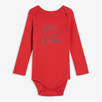 Joe Fresh Baby Boys' Long Sleeve Bodysuit, Dark Red (Size 3-6)