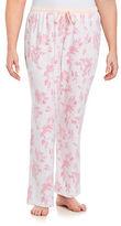 Nautica Plus Floral Knit Pajama Pants