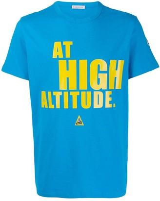 Moncler at high altitude print T-shirt