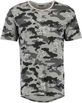 ONLY & SONS ONSHANS CURVED FITTED Print Tshirt light grey melange