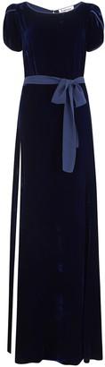 Libelula Long Bearob Dress Navy Velvet