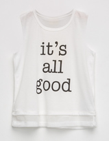 Hip All Good Mesh Trim Girls Tank