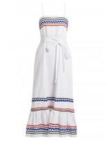 Lisa Marie Fernandez Ric-rac trimmed linen slip dress