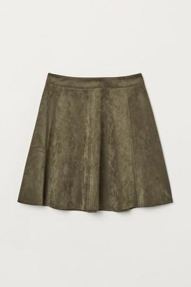 H&M Imitation suede skirt