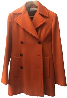 Dolce & Gabbana Orange Wool Coat for Women Vintage