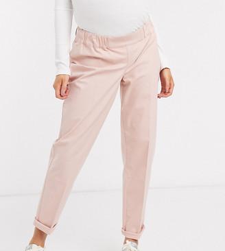 Asos DESIGN Maternity chino pants in pink