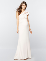 A Pea in the Pod Carmen Marc Valvo Ruffled Maternity Gown