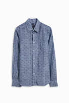 120% Lino Dot Medium Fit Shirt