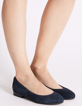 Marks and Spencer Wide Fit Suede Pumps
