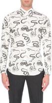 Alexander McQueen Snake slim-fit cotton shirt