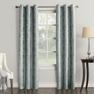 Decorative 2-Pack Portia Embossed Floral Window Curtains