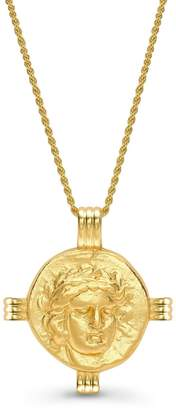 Missoma Lucy Williams Gold Apollo Medallion Coin Necklace