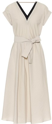 Brunello Cucinelli Cotton-blend midi dress