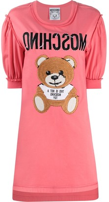 Moschino teddy embroidery T-shirt dress