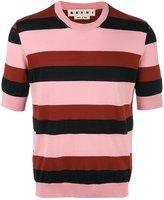 Marni striped short sleeve jumper - men - Cotton - 44