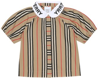 BURBERRY KIDS Cecily Icon Stripe cotton top
