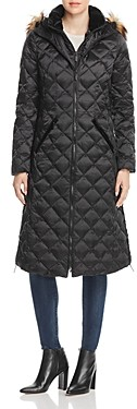 Laundry by Shelli Segal Diamond-Quilted Maxi Puffer Coat