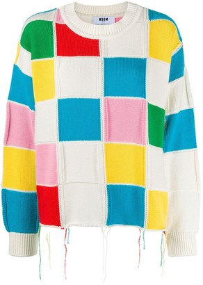 MSGM Colour-Block Knit Jumper
