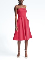 Banana Republic Strapless Ponte Fit-and-Flare Dress