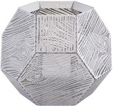 Tom Dixon Etch Wood Effect Tealight Holder - Stainless Steel