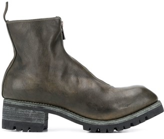 Guidi Front-Zip Ankle Boots