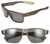 Nike Women's 'Mavrk' 59Mm Sunglasses - Anthracite/ Volt/ Grey Polar
