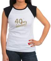 CafePress - 40 And Fabulous - Women's Cap Sleeve T-Shirt