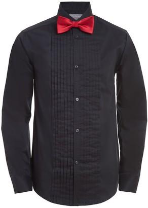 Van Heusen Boys 10-20 Tuxedo Shirt & Bow Tie