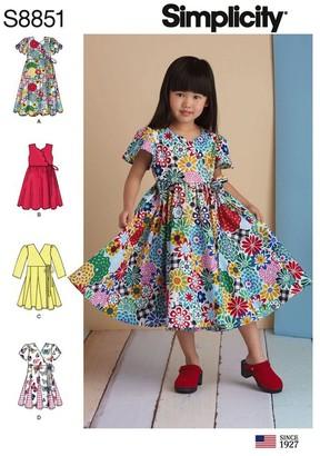 Simplicity Children's Dress Sewing Pattern, 8851