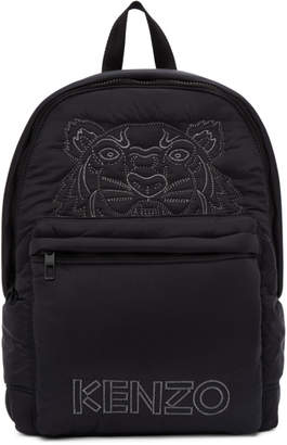 Kenzo Black Large Tiger Kampus Backpack