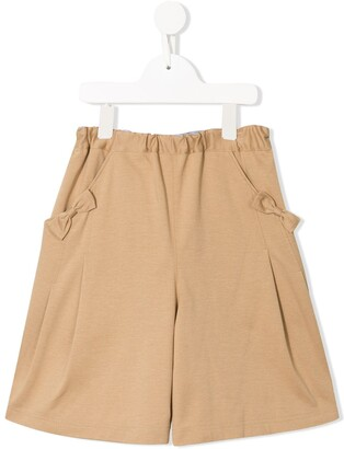 Familiar Elasticated Asymmetric Skirt
