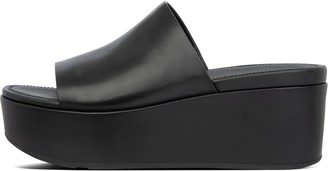FitFlop Eloise Leather Wedge Slides