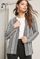 Forever 21 Stripe Open-Front Blazer