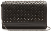 Christian Louboutin Paloma spike-embellished leather clutch