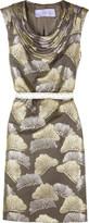 Vera Wang Lavender Brocade shift dress