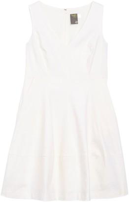Taylor Linen Blend V-Neck Fit & Flare Dress (Petite)