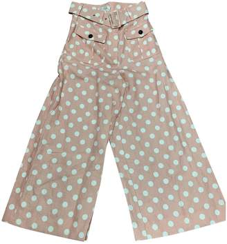 Zimmermann Pink Cotton Trousers for Women