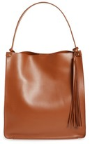 Sole Society Karlie Faux Leather Bucket Bag - Brown