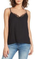 Lush Women's Lace Trim Camisole