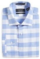 Nordstrom Trim Fit Check Linen & Cotton Dress Shirt