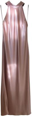 Galvan Pink Polyester Dresses