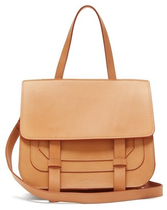 Mansur Gavriel Satchel Leather Shoulder Bag - Tan