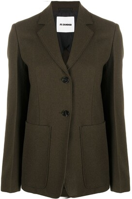 Jil Sander Single-Breasted Wool Blazer