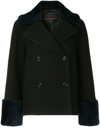 Martin Grant Double-Breasted Shearling Coat