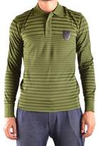 Bikkembergs Men's Green Cotton Polo Shirt.