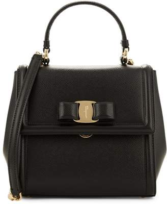 Salvatore Ferragamo Vara Leather Top Handle Bag