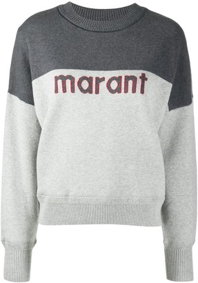 Etoile Isabel Marant Long-Sleeved Knitted Logo Jumper