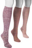 Muk Luks Women's 3-Pair Pack Marl Knee High Sock