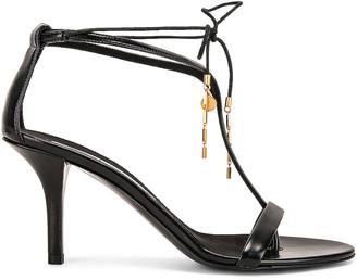 Stella McCartney Tie Heeled Sandals in Black & Black | FWRD