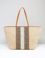 Aldo Asenawia Embroidered Straw Bag
